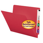 Colored End Tab Folders with Shelf-Master® Reinforced Tab