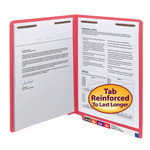 Smead End Tab Fastener File Folder 25740, Shelf-Master® Reinforced Straight-Cut Tab, 2 Fasteners, Letter, Red