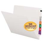 Smead End Tab File Folder 25810, Shelf-Master® Reinforced Straight-Cut Tab, Letter, White