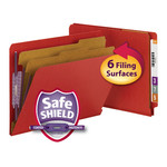 End Tab Classification Folders with SafeSHIELD® Coated Fastener Technology - 2 DIVIDERS