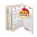 Smead End Tab Classification File Folder 26835, Reinforced Tab, 2 Dividers, 2