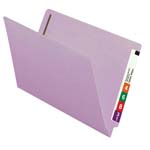 Smead End Tab Fastener File Folder 28540, Shelf-Master® Reinforced Straight-Cut Tab, 2 Fasteners, Legal, Lavender