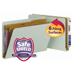 Smead End Tab Pressboard Classification Folder with SafeSHIELD® Fasteners 29810, 2 Dividers, 2