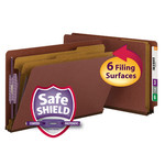 Smead End Tab Pressboard Classification Folder with SafeSHIELD® Fasteners 29860, 2 Dividers, 2