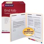Smead End Tab Fastener File Folder 34115, Shelf-Master® Reinforced Straight-Cut Tab, 2 Fasteners, Letter, Manila