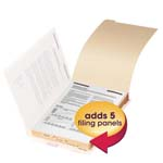 Smead Folder Dividers with Fastener 35650, Bottom 1/5-Cut Tab, Legal, Manila