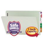Smead End Tab Pressboard Fastener File Folder with SafeSHIELD® Fasteners 37705, 2 Fasteners, 1