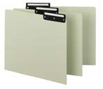 Smead Pressboard Guides 50534, Flat Metal 1/3-Cut Tab with Insert (Blank), Letter, Gray/Green