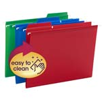 Smead Poly FasTab® Hanging Folder 64028, 1/3- Cut Tab, Letter Size, Assorted Colors