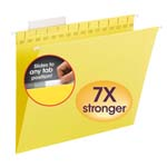 Smead TUFF® Hanging Folder with Easy Slide™ Tab 64044, 1/3-Cut Sliding Tab, Letter, Yellow