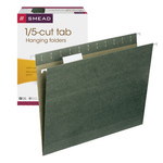 Smead Hanging File Folder with Tab 64055, 1/5-Cut Adjustable Tab, Letter, Standard Green