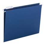 Smead Hanging File Folder with Tab 64057, 1/5-Cut Adjustable Tab, Letter, Navy