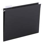 Smead Hanging File Folder with Tab 64062, 1/5-Cut Adjustable Tab, Letter, Black