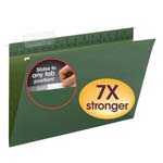 Smead TUFF® Hanging Folder with Easy Slide™ Tab 64136, 1/3-Cut Sliding Tab, Legal, Standard Green