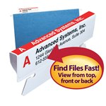 Viewables® Premium 3D Hanging Folder Tabs & Labels, Canadian Pkg, pack of 25 tabs