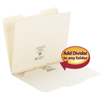 Smead Self-Adhesive Folder Dividers 68021, Side Flap Style, Letter, Manila