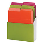 Smead Organized Up® Vertical Stadium® File with Heavyweight Vertical Folders 70222, 3 Pockets, Letter, Peridot/Brights