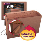 Smead TUFF® Expanding File 70369, Daily (1-31), 31 Pockets, Flap and Elastic Cord Closure, Legal, Redrope-Printed Stock