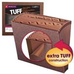 Smead TUFF® Expanding File 70488, Monthly (Jan.-Dec.), 12 Pockets, Letter, Redrope-Printed Stock