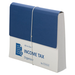 Smead All-in-One™ Income Tax Organizer 70660, 12 Pockets, Flap and Cord Closure, Letter, Navy/White