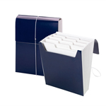 Smead Organized Up® Vertical Expanding File with SuperTab® 70701, 12 Pockets, Letter Size, Monaco Blue