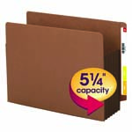 Extra Wide Redrope End Tab File Pockets with Reinforced Tab and Colored Gusset