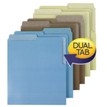Smead Organized Up® Heavyweight Vertical File Folders 75405, Dual Tabs, Letter, Earth Tones