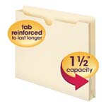 Smead File Jacket 75540, Reinforced Straight-Cut Tab, 1-1/2