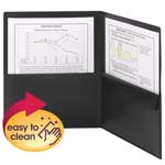 Smead Poly Two-Pocket Folder with Security Pocket 87700, Holds up to 100 Sheets, Letter, Black