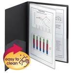 Smead Poly Four-Pocket Folder 87720, Holds up to 100 Sheets, Letter, Black