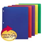 Smead Poly Snap-In Two-Pocket File Folder 87939, Up to 50 Sheets, Letter, Assorted Colors
