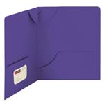 Smead Lockit® Two-Pocket Folder, Letter Size, Purple, 25 per Box (87943)