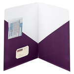 Smead Contemporary Two-Pocket File Folder 87961, Up to 50 Sheets, Letter, Purple