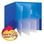 10 Pocket Poly Subject File Folder 89204, Letter, Assorted Colors 2 per Pack