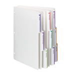 Viewables® Three-Ring Binder Index Dividers 89413, 1/3-Cut Tabs, Letter, White