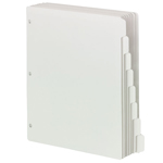 Smead Three-Ring Binder Index Dividers 89418, 1/8-Cut Tabs, Letter, White